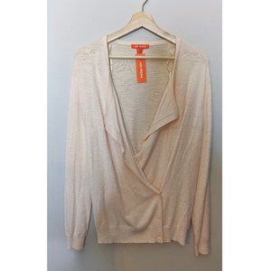 Joe Fresh | Blush wrap sweater NWT